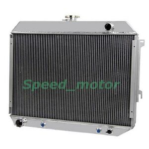 3 Cores Aluminum Radiator Fit 68 73 Dodge 383 440 Plymouth Big Block 26 Core