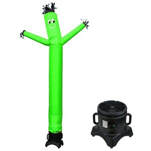 Mounto 10ft Sky Puppet Inflatable Dancer With Blower Complete Set green