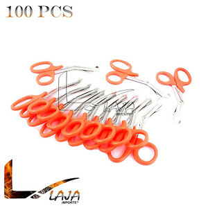 100 Orange Emt Shears scissors Bandage Paramedic Ems Rescue Supplies 7 25 New