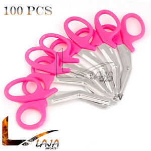 100 Pink Emt Shears Scissors Bandage Paramedic Ems Rescue Supplies 7 25 New