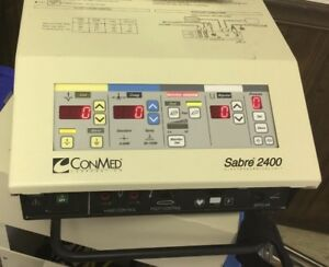 Conmed Sabre 2400 Electrosurgical Unit 60 5600 02 With Foot Switch