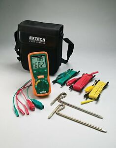 Extech 382252 Earth Ground Resistance Tester Kit Special