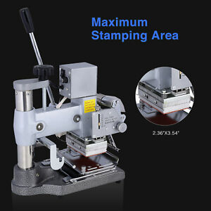 Kuppet Manual Tipper Stamper Pvc Card Hot Foil Stamping Printing Machine