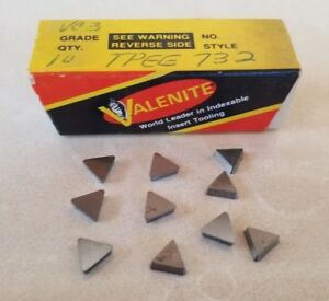 Valenite Vc3 Tpee 732 Lathe Carbide Inserts 10 Pcs Tools New