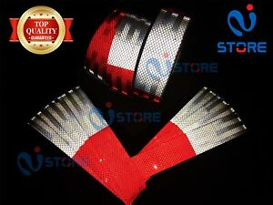 Dot c2 Conspicuity Reflective Tape 6 Red 6 White Safety Warning Trailer Rv