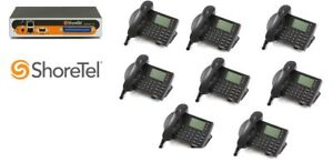 Shoretel 50v Ksu Voip Phone System W 8 230 Phones Telephones