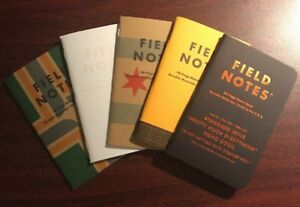 Field Notes Lot Of Limited Edition Memo Books Eeek Snowblind Utility New