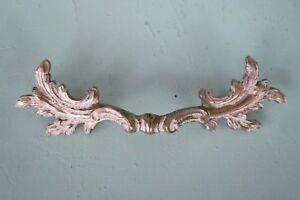 5 75 White Gold Vtg Brass French Provincial Drawer Pull Handle Original Patina