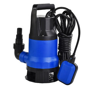 1hp 750w Submersible Dirty Clean Water Pump Swim Pool Pond Flood Drain