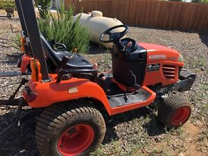 Kubota Bx2350 23hp 4wd Turf And Ag Tires Gearmore Tiller 5ft Blade Rake