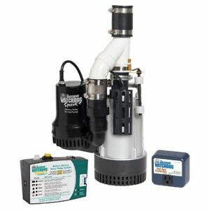 Dual Pump System 1 2 Hp 12 volt Submersible Sump Pump Combination Unit W Backup