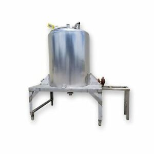 Used Cherry burrell Stainless Steel Sanitary Mix Tank 280 Gallon