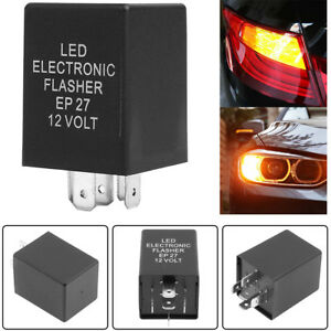 12v 5pin Ep27 Led Flasher Relay Fits Car Turn Signal Indicator Blinker Flash New