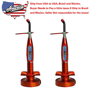 2 X Usa To Brazil Dental Wireless Cordless Led Curing Light Lamp Orange