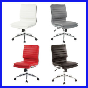 no Tax Langston Armless Mid Back Managers Chair Seat Height Adjustment