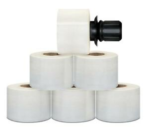 54 Rolls Black Spin Handle Extended Core Hand Stretch Shrink Film 3 x1000 80 Ga