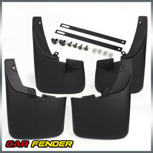 For 2011 2016 Super Duty F250 F350 Ford Splash Guard Mud Flaps W Lips 4pc Set