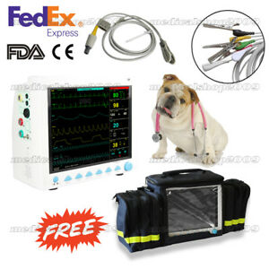 Usa Fedex Vet Icu Patient Monitor Veterinary Multi parameter Ccu Cms8000vet