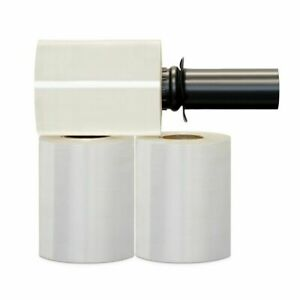 36 Rolls Black Spin Handle Extended Core Hand Stretch Shrink Film 5 x1000 90 Ga