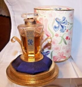 Rare Old Store Stock 1937 Blue Carnation Roger Gallet Perfume 1 2 Oz