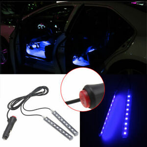 1set 9led Car Charge Interior Accessories Floor Decorative Atmosphere Lamp Light