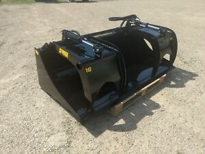 New 72 Scrap Demolition Grapple Solid Bottom Grade 50 Steel Skid Steer Bucket
