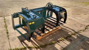 New 75 Manure Tine Grapple Silage Rake Hd Fits Skid Steer Tractor Bobcat