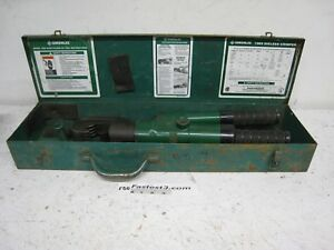Greenlee 1989 Manual Hydraulic Dieless Crimper Hand Crimping Tool Box