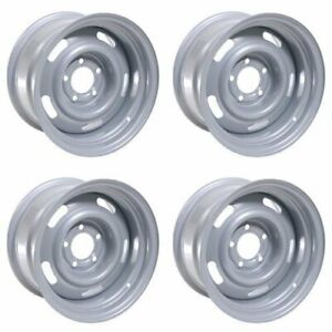 4x Vision 15x8 American Muscle 55 Rally Silver Wheels Silver 5x4 75 6mm 4 250