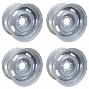 4x Vision 15 55 Rally Wheels Silver 15x5 5x4 5 5x114 3 5x4 75 5x120 65 6mm