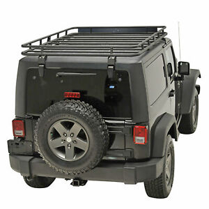 07 18 Jeep Wrangler Jk 2 4 Door Roof Rack Cargo Basket Full Width Heavy Duty