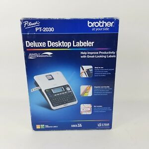 New Brother P touch Deluxe Desktop Labeler Pt 2030