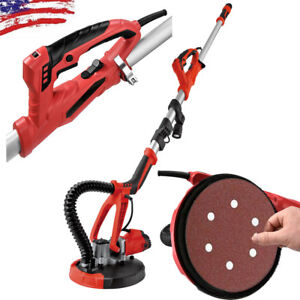 750w Stretchable Drywall Electric Variable Speed Sanding Pad W Led Light