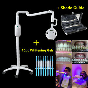 Cicada Dental Led Teeth Whitening Light Bleaching Machine Lamp Gels Shade Guide