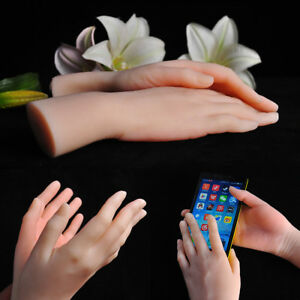 Lifelike Female Hand Displays Model Prop Mannequin Left right Soft Clear Texture