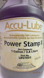 New Accu lube Power Stamp Ii Part Lbstll01 One Gallon 3 8 Liters