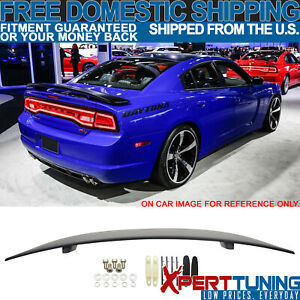 Fits 11 18 Dodge Charger Abs Rear Trunk Lip Unpainted Premier Vip Spoiler Wing