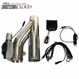 2 5 Electric Exhaust Downpipe Cutout E Cut Out Valve Controller Remote Kit 63mm
