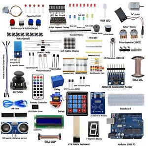 Ultimate Starter Learning Kits For Arduino Uno R3 Lcd1602 Servo Process New Hp