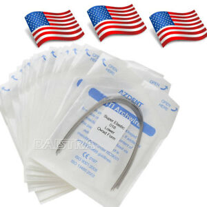 50 Kits Dental Ortho Supper Elastic Niti Round Arch Wires Ovoid 018 Lower Usps