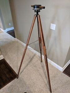 Vintage Bostrom s No 2 Farm Level Surveying Instrument Plumb Bob And Tripod