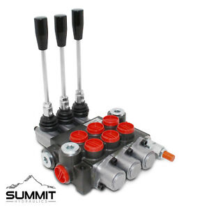 3 Spool Monoblock Hydraulic Directional Control Valve 11 Gpm Sae Ports