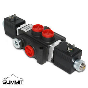 Hydraulic Monoblock Directional Solenoid Control Valve 1 Spool 13 Gpm 12v Dc