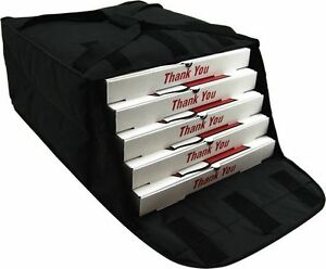 Case Of Ovenhot Black Fabric Pizza Bag Holds 4 5 16 Or 18 Pizzas New