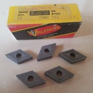 Valenite Vc2 Dnmg 542 H Lathe Carbide Inserts 5 Pcs Tools