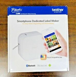 New Brother P touch Electronic Labeling Systems Cube With Bluetooth Wireless