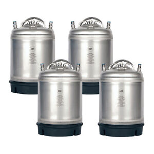 4 Pack New 2 5 Gallon Ball Lock Kegs Amcyl Homebrew Beer Soda Free Shipping