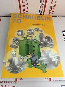 Schaublin 70 Catalog For Lathe And Milling Accessories Used Rare