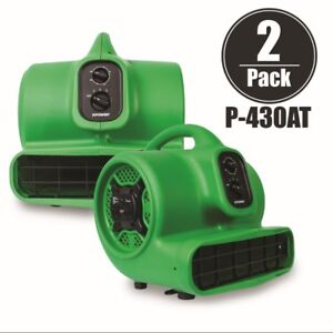 Xpower P 430at Air Mover Carpet Dryer Blower Floor Fan 2000 Cfm 2 Pack green