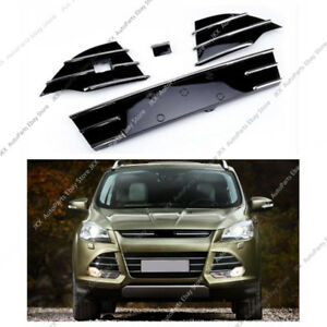 4x Abs Chrome Front Bumper Center K Lower Grille Grill For Ford Escape 2013 16